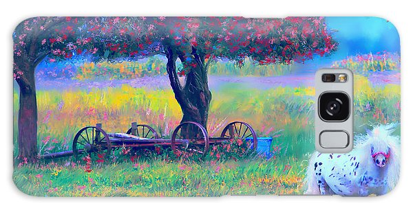 Pony In Pasture Galaxy Case