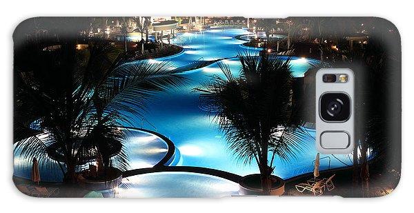 Pool At Night Galaxy Case