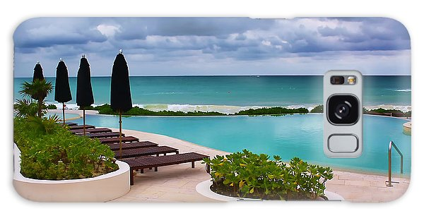 Pool At Rosewood Mayakoba Galaxy Case by Teresa Zieba