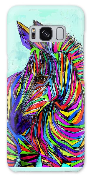 Pop Art Zebra Galaxy Case by Jane Schnetlage