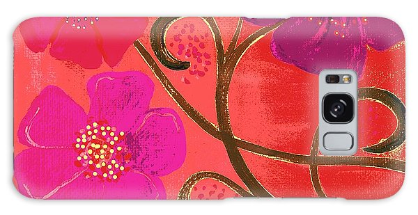 Pop Spring Purple Flowers Galaxy Case