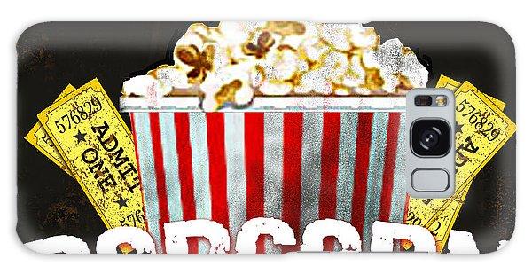 Popcorn Please Galaxy Case by Jean Plout