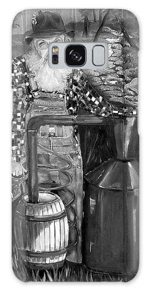 Popcorn Sutton - Black And White - Legendary Galaxy Case