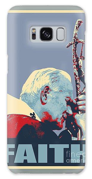 Pope John Paul II Galaxy Case by Jean luc Comperat
