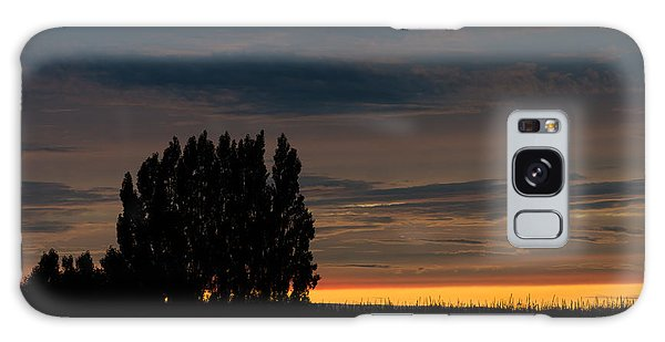 Poplars Flanders Sunset Galaxy Case