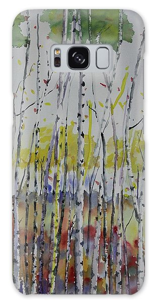 Poplars In Fall Galaxy Case