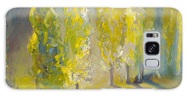 Poplars In The Morning Galaxy Case