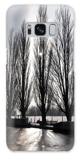 Poplars In Winter Galaxy Case