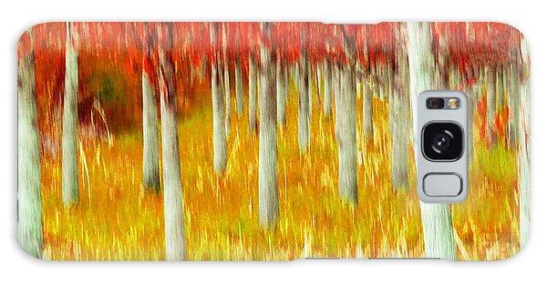 Poplars Galaxy Case by Michele Wright