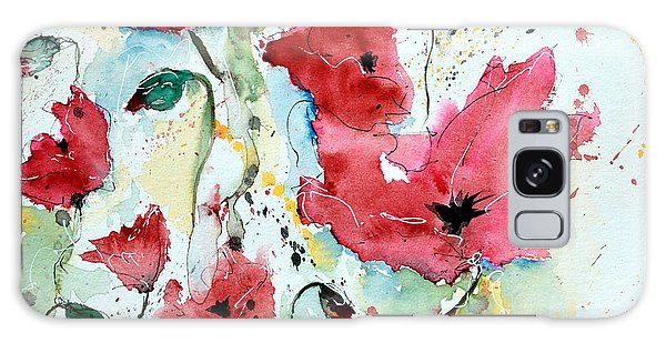 Poppies 05 Galaxy Case by Ismeta Gruenwald