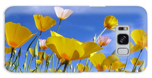 Poppies And Blue Arizona Sky Galaxy Case