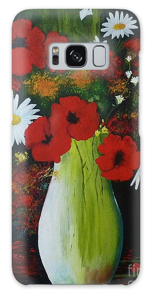 Poppies And Daisies Galaxy Case