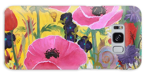 Poppies And Time Traveler Galaxy Case