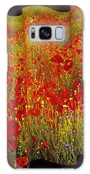 Poppies And Wildflowers Galaxy Case