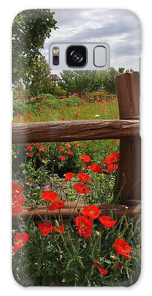 Poppies At The Farm Galaxy Case