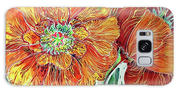 Poppies Batik Abstract Galaxy Case