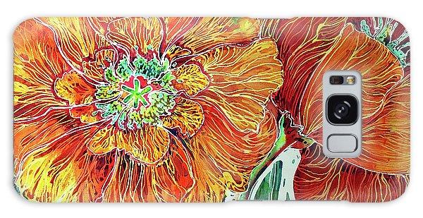 Poppies Batik Abstract Galaxy Case