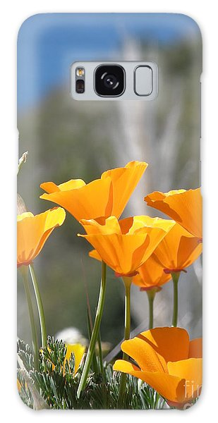 Poppies Galaxy Case by Bev Conover