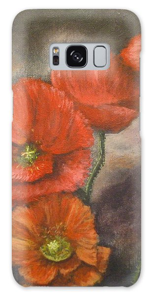 Poppies Galaxy Case by Dan Wagner