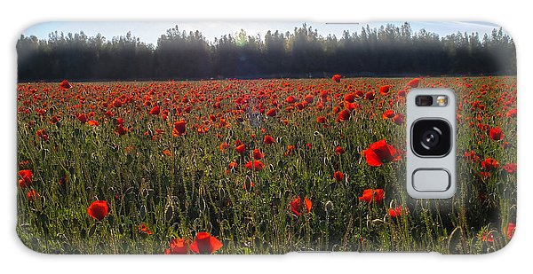 Poppies Field Forever Galaxy Case