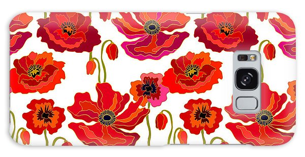 1950s Galaxy Case - Poppies Field. Seamless Vector Pattern by Svetlana Kononova