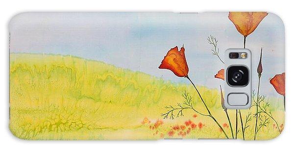 Poppies In A Field Galaxy Case by Carolyn Doe