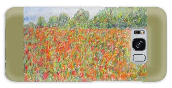 Poppies In A Field In Afghanistan Galaxy Case