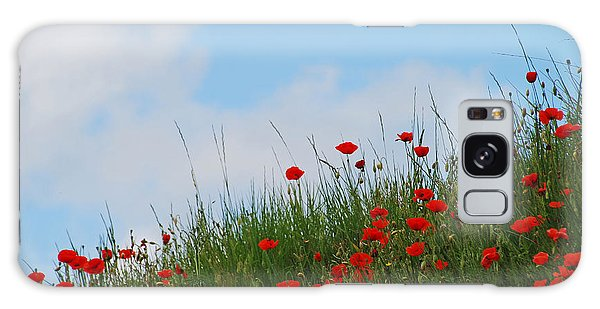 Poppies In A French Landscape Galaxy Case