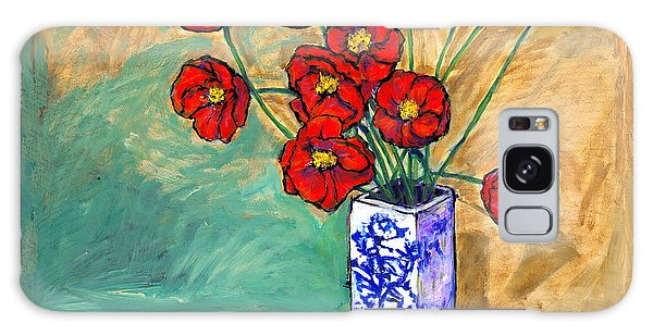 Poppies In A Vase Galaxy Case