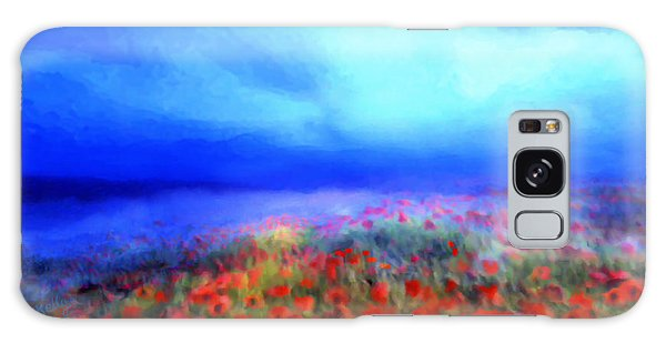 Poppies In The Mist Galaxy Case