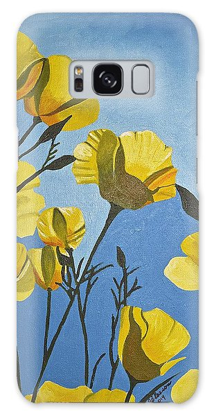Poppies In The Sun Galaxy Case by Donna Blossom