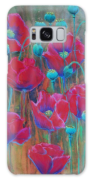Poppies  Galaxy Case by Jani Freimann