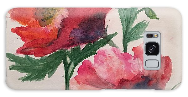 Poppies Galaxy Case by Lucia Grilletto