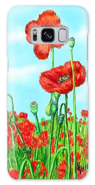 Poppies N' Pods Galaxy Case by Ric Darrell