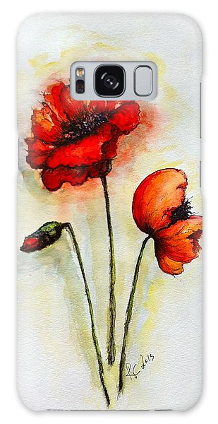 Poppies Galaxy Case by Rae Chichilnitsky