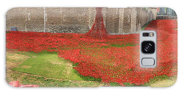 Poppies Tower Of London Collage Galaxy Case