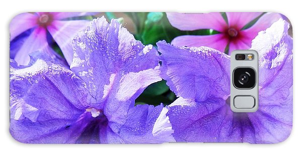 Popping Purple Petals Beauty Galaxy Case by Belinda Lee