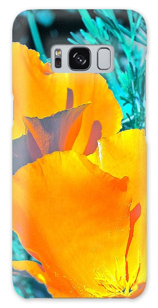 Poppy 4 Galaxy Case by Pamela Cooper