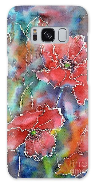 Poppy Abstract Galaxy Case