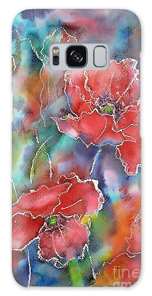 Poppy Abstract Galaxy Case by Kathleen Pio