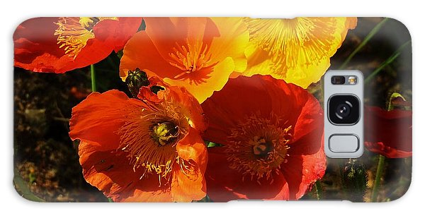 Poppy Bouquet Galaxy Case