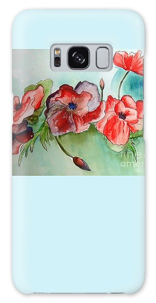 Poppy Bouquet Galaxy Case