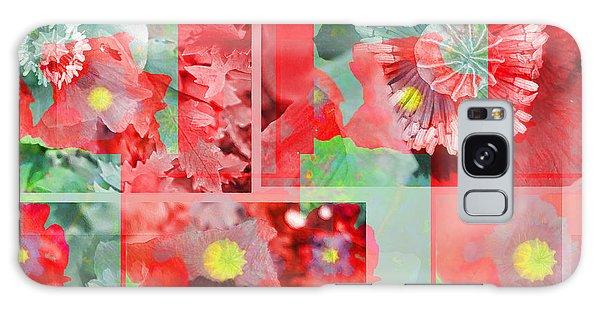 Poppy Collage Galaxy Case by Barbara Moignard
