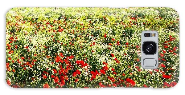 Poppy Field In Summer Galaxy Case