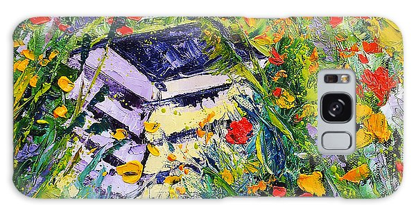 Poppy Field Oil Painting Galaxy Case