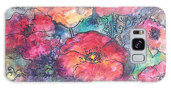 Poppy Flower Splash Of Spring Galaxy Case by Christy  Freeman