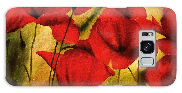 Poppy Flowers At Dusk Galaxy Case
