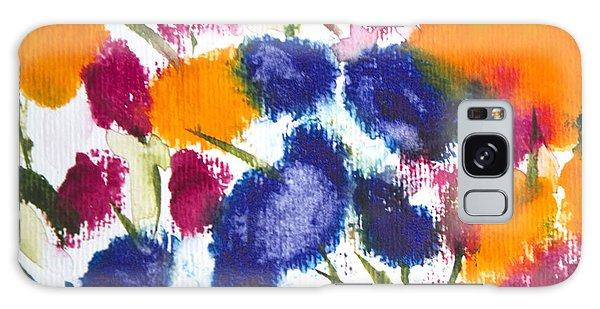 Poppy Garden Galaxy Case by Linde Townsend