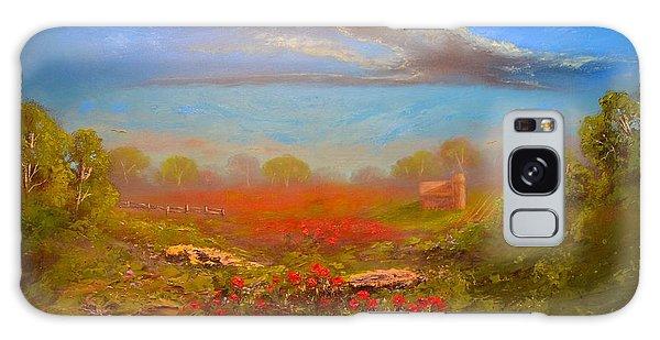 Poppy Morning Galaxy Case