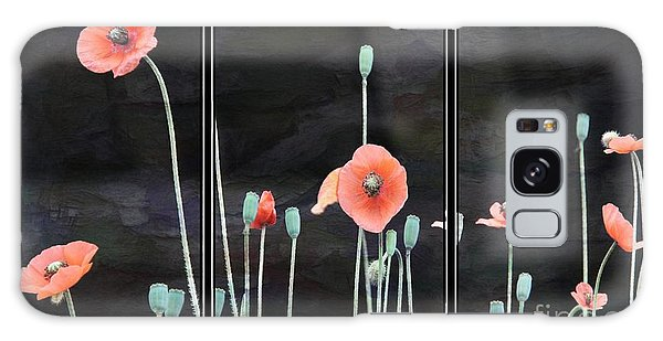 Poppy Triptych       Galaxy Case
